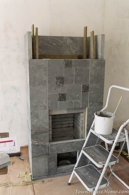 soapstone fireplace installation sixth layer