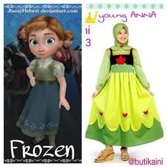 Busana Muslim Anak Aini AN 160203 Young Anna Frozen