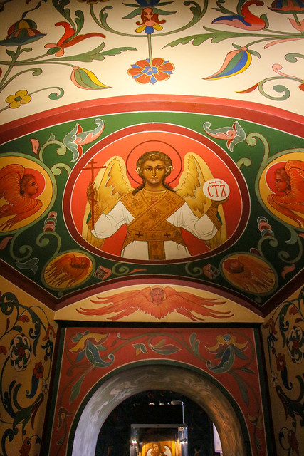 Angel icons of Saint Basil's Cathedral, Moscow, Russia モスクワ、聖ワシリー寺院内の天使のイコン
