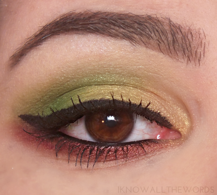Kat Von D Mi Vida Loca Remix Eyeshadow Palette swatches review eye look (1)
