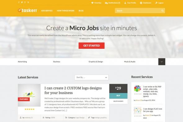 AppThemes Taskerr v1.3.1 - WordPress micro jobs theme