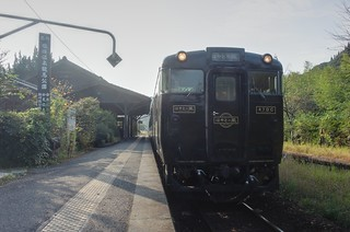'Hayato no Kaze' at Kareigawa Station on OCT 23, 2015 (2)