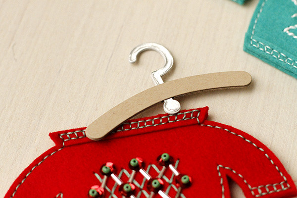 Use the Softie Hanger Die to Hang Your Sweater Ornament on the Tree