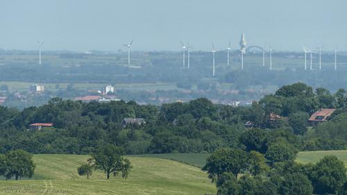 Femarnsundbrücke und der Ocean Tower bei Großenbrode 29km Luftlinie