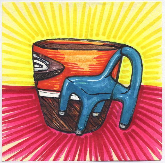 I drew you a chair mug of coffee