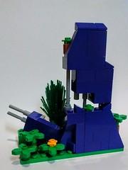 Crumbling Purple LEGO Wall