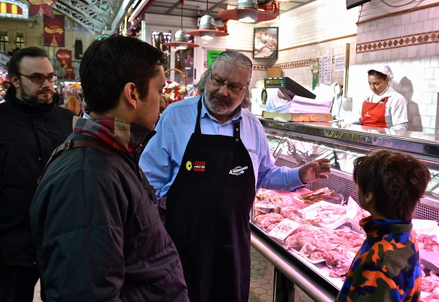 the meats - mercado central - Paella Cooking Class, Valencia Spain