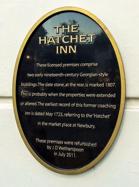 Photo of Hatchet Inn, Newbury black plaque