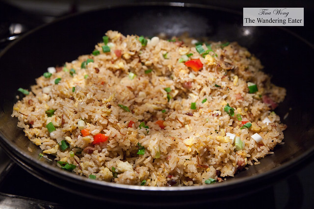 Taiwanese sausage and egg stir fried rice