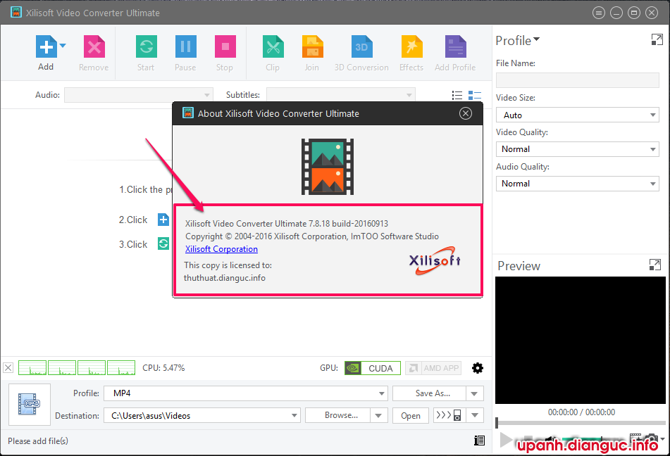 Download Xilisoft Video Converter Ultimate 7.8.18 full key mới nhất