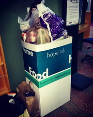Love that our Hopelink donation box is overflowing in the West building!   #thankfulthursday #hopelink #food #fooddrive #thelwtech #giving #thankful #community #makeadifference