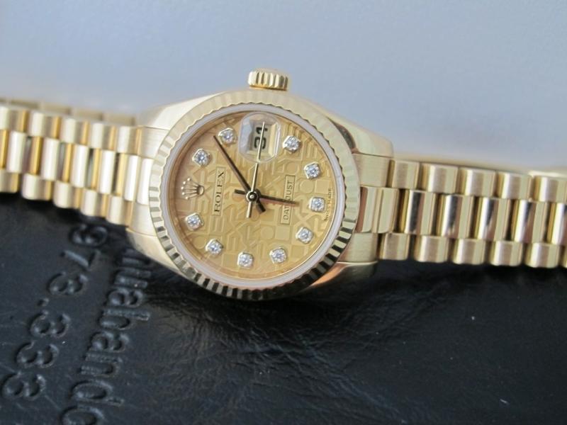 Bán đồng hồ rolex datejust Nữ 179178 – Mặt vi tính – vàng 18k – size 26mm
