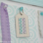 DIY cross stitch keyring for my summer house