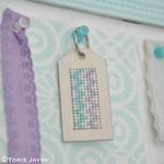 DIY cross stitch keyring for my summer house