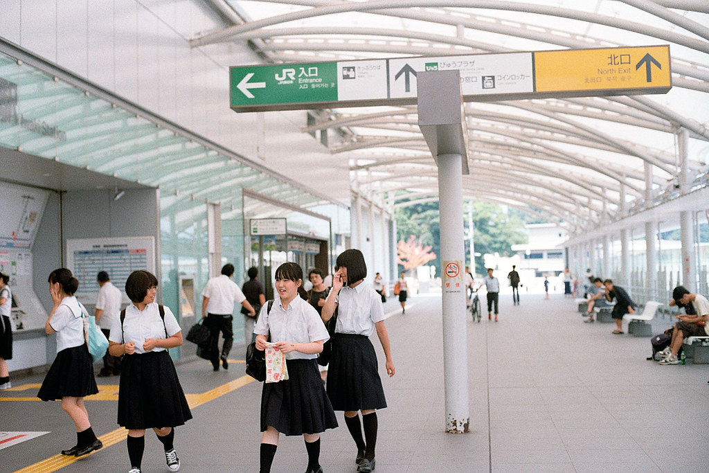 "Iwaki Station (Fukushima) いわき駅 2015/08/06 走回車站,準備要前往下一站,龍田車站。  Nikon FM2 / 50mm Kodak ColorPlus ISO200  <a href=""http://blog.toomore.net/2015/08/blog-post.html"" rel=""noreferrer nofollow"">blog.toomore.net/2015/08/blog-post.html</a> Photo by Toomore"