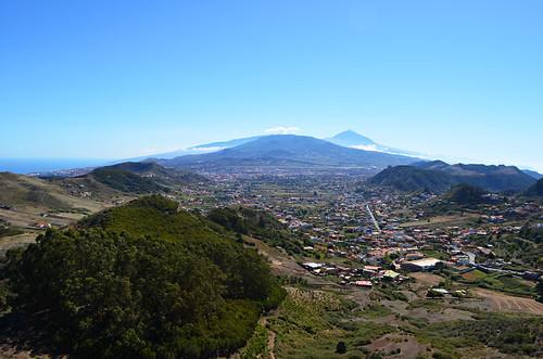 Late afternoon, La Laguna and Mount Teide, Tenerife