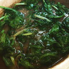 Curried Lentils with Greens