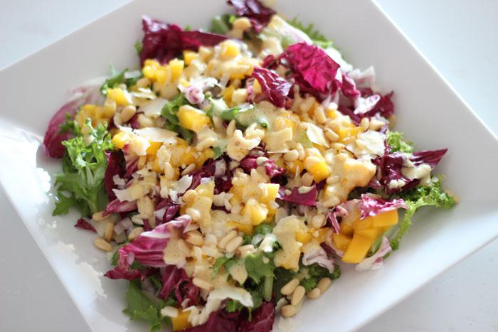 salade chicoree frisee radicchio mangues