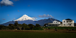 Farm and Mount Taranaki