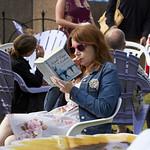 Reading in the Gardens | Enjoying a book in Charlotte Square Gardens © Helen Jones
