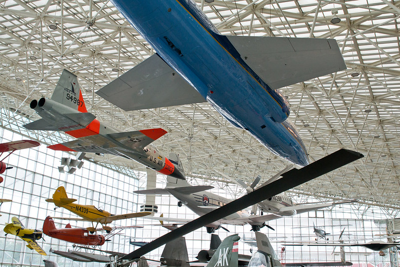 Looking up in the Great Gallery @ The Museum of Flight, Seattle, WA