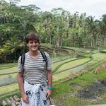 Claudio con arrozales