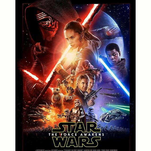 Hello... #theforceawakens #starwars #episodeVII #officialposter #december #2015 #damncantwait