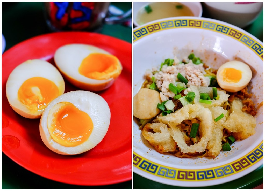 Guan's Mee Pork withfish maw and Ni-tamago egg (the Japanese half-boiled egg with a semi-solid yolk)