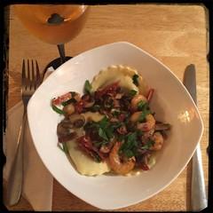 #Homemade #Shrimp, Mushroom & Sundried Tomato Sauce #CucinaDelloZio - mushroom ravioli