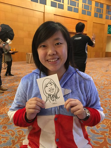 Digital live caricature sketching for ONE Panasonic Dinner & Dance 2015