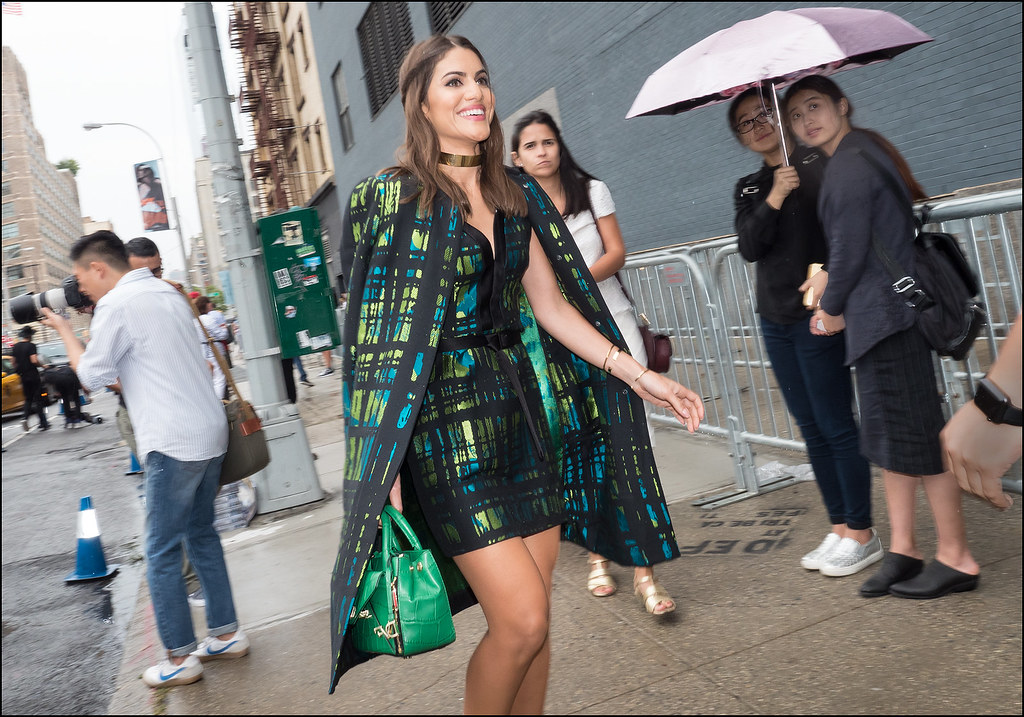 Arriving at DVF NYFW 9-2015