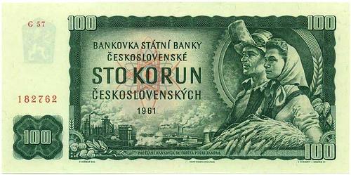 Czech banknote kcs-100-peasants front