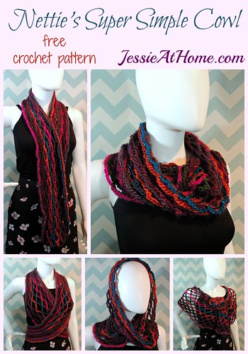 Nettie's Super Simple Cowl - free crochet pattern by Jessie At Home