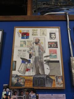 Artwork of founder David Nadel near the entrance