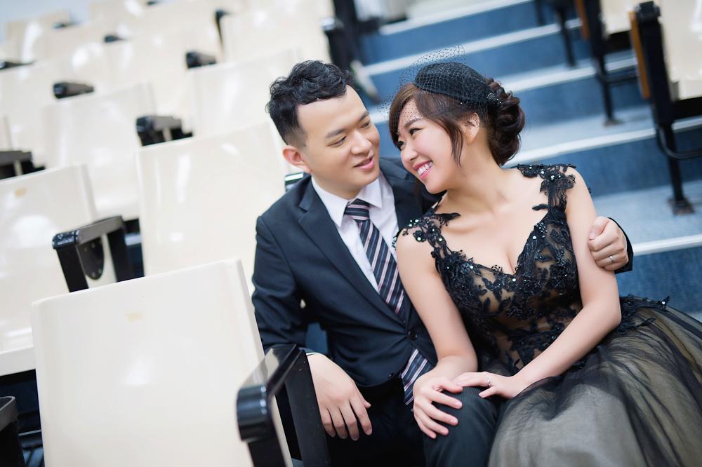 Giny,Dream婚紗工坊,台北新娘秘書,愛瑞思造型團隊,莫尼婚攝,自助婚紗,線條盤髮,時尚造型,東吳大學,大佳河濱公園