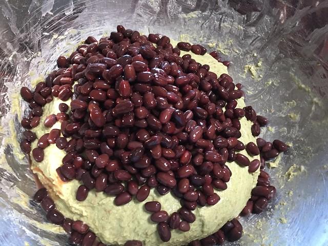 Mixing Azuki beans