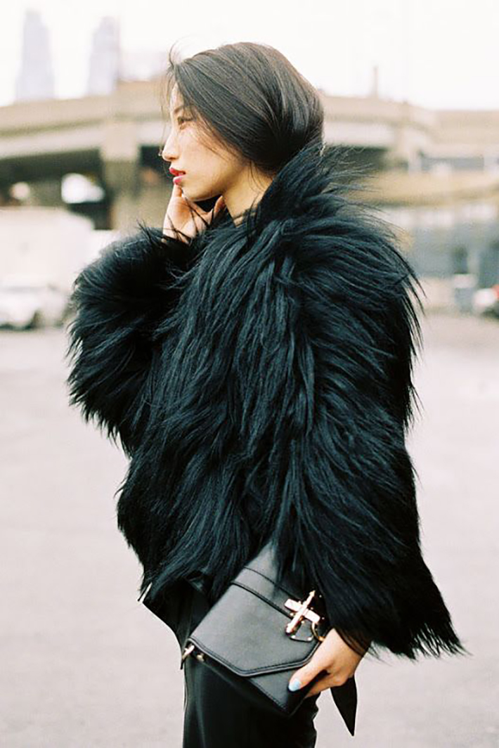 Faux Fur Coats Outfits style inspiration streetstyle8