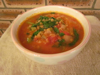 On The Med Spiced Red Lentil-Kale Soup