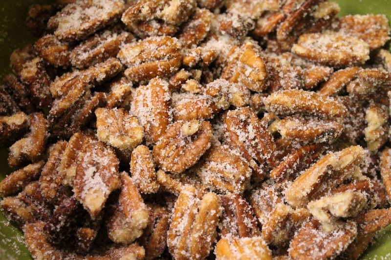 Ginger Sugared Pecans - Our Christmas Favorite!