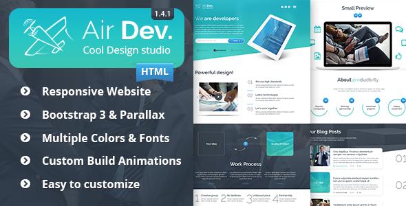 Air Dev v1.4.1 - Responsive Website Template