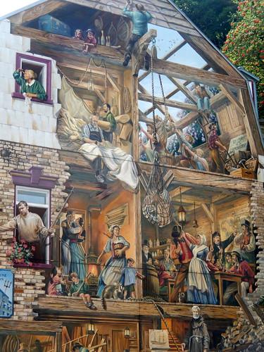 Quebec City - muurschildering in old lower town