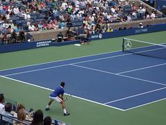 Novak Djokovic's weird stance