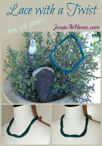 Lace with a Twist ~ free knit pattern by Jessie At Home