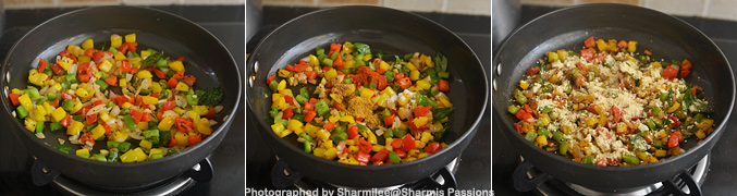 How to make capsicum zunka - Step3