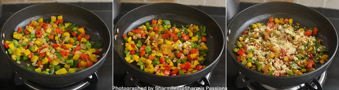 How to make capsicum zunka - Step3