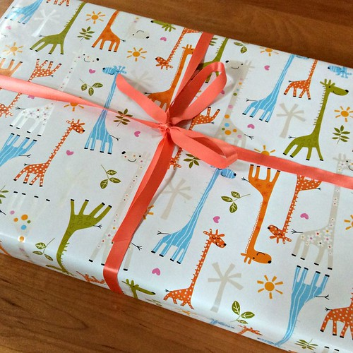 Giraffe Baby Gift Wrapping Paper