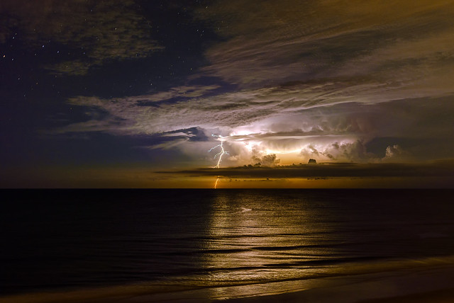 Light Show at Ormond Beach, Florida
