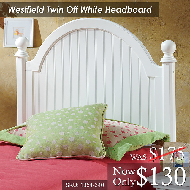 Westfield Twin Off White Headboard (1354-340) Was 175 Now 130