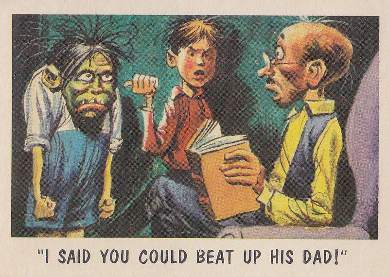 """""""You'll Die Laughing"""" Topps trading cards 1959,  illustrated by Jack Davis (34)"""