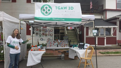 3D Printing - Occoquan Craft Show - Vicky and Booth